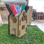 【3D模型】ペンスタンド ハウス型