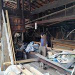 京都で木材倉庫を整理する。