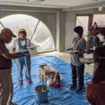 【DIY】珪藻土などと塗料の塗